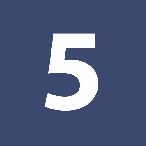 Blue Circle Number 5 Lenie Colacino